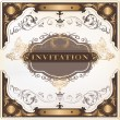 Elegant invitation vector card for design — Stock Vector