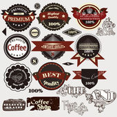 Collection of retro stickers premium and high quality — Stock Vector
