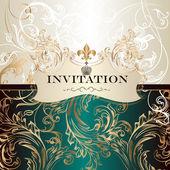 Elegant invitation card in royal style — Stock Vector