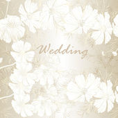 Elegant wedding background with flowers for design — Stock Vector