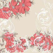 Floral vector background — Stock Vector