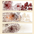 Set of vector floral banners for design — Vector de stock #27803781