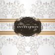 Elegant wedding invitation card in vintage style — Imagen vectorial
