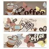 Folleto de café de diseño — Vector de stock