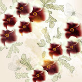 Beautiful vector background in vintage style with flowers — Stock Vector