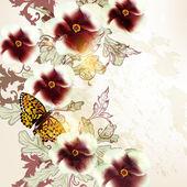 Floral grunge vector background for design — Stock Vector