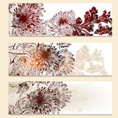 Set of vector floral banners for design — Stock Vector