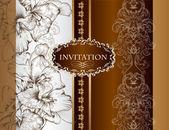 Svatební pozvánky v královském stylu — Stock vektor