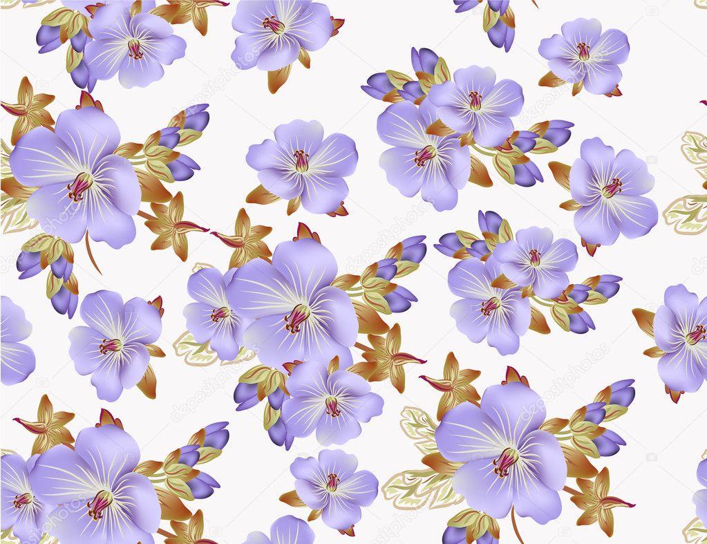 Patr n floral vector hermoso para el dise o de papel tapiz for Papel tapiz de patron para el pasillo