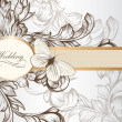 Stok Vektör: Elegant wedding invitation card for design