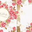 Wedding greeting card design with roses — Stock Vector #28711019