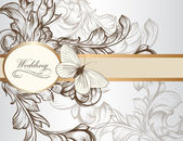 Elegant wedding invitation card for design — Vector de stock