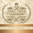 Elegant  invitation card in light  colors — Imagens vectoriais em stock