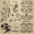 Vector de stock : Vintage vector decorative elements for design