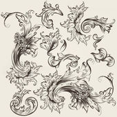Collection of vector vintage swirls for design — Stock Vector