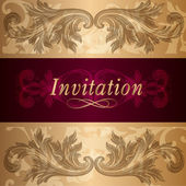 Design of luxury invitation card in vintage style — Stock Vector
