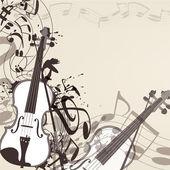 De fundo vector com notas de violino e música — Vetorial Stock
