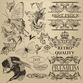 Vintage vector decorative elements for design — Stock Vector