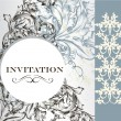 图库矢量图片: Elegant invitation card in vintage style