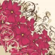 Fashion floral background with flowers — Imagen vectorial