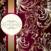 Elegante uitnodigingskaart met ornament — Stockvector