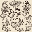 Set of vector swirls in vintage style for design — Imagens vectoriais em stock