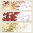 Brochure vector set in floral style with maple leafs — Stock Vector #29719227