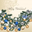 Christmas greeting card — Vector de stock #29728143