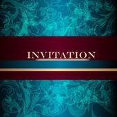 Elegant design of luxury invitation card in vintage style — Stock Vector