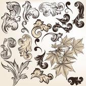Vector set of vintage swirls for design — Stock Vector