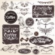 Set of vector calligraphic vintage elements and labels for desig — Vettoriali Stock