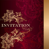 Luxury invitation card in vintage style — Stock Vector