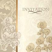 Elegant invitation card in vintage style — Stock Vector