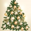 Beautiful vector Christmas tree for design — Vector de stock #31349749