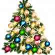 Beautiful vector Christmas tree for design — Imagen vectorial
