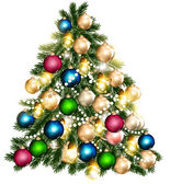 Beautiful vector Christmas tree for design — Stock Vector