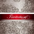 Elegant invitation card for design — Stock Vector