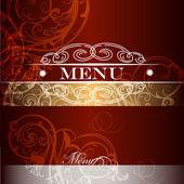 在复古皇家风格的菜单设计 — 图库矢量图片