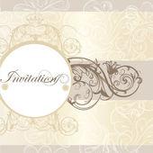 Wedding invitation card for design — Stock Vector