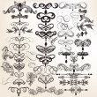 Collection of calligraphic vintage vector design elements for de — Stock Vector #32879983