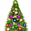 Christmas vector tree against white background — 图库矢量图片
