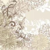 Cute wedding background in floral vintage style for design — Stock Vector