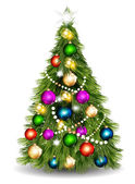 Christmas vector tree against white background — Stock Vector