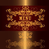 Luxury menu design in vintage style — Stock Vector
