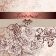 Stok Vektör: Wedding invitation card with flowers for design