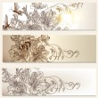 Floral brochures set for design — Vector de stock #34372361