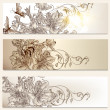 Floral brochures set for design — Stock vektor #34372361