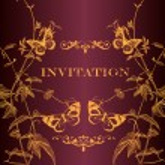 Vector invitation card for design — Stock Vector