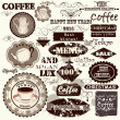 Stock Vector: Set of vintage vector labels, headlines and badges