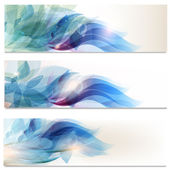 Abstract brochures set in floral style — Stock Vector